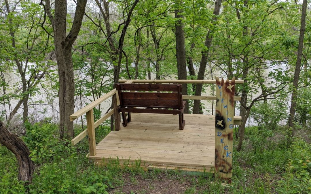 Overlook Deck Created on Walking Trail Southern End.
