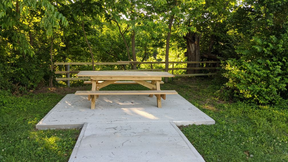 Walking Trail Extended with Another Overlook at Pendleton Athletic Park